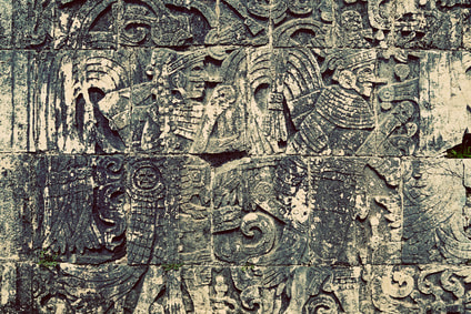 Mayan wall carving, Chichen Itza